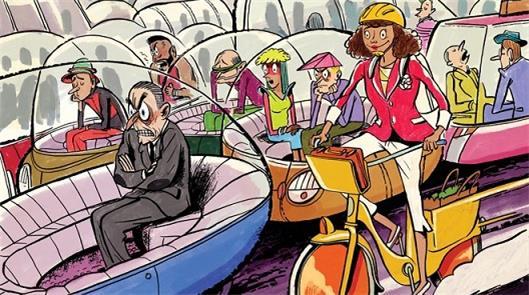 Mais de 100 anos depois, a nova solução é a bicicl