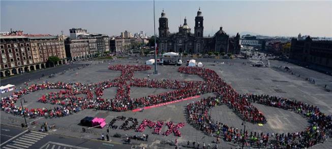 Manifestação de cicloativistas na Cidade do México