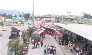 Manifestantes bloquearam os corredores dos ônibus
