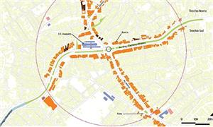 Mapa caminhabilidade av. Caetano Álvares