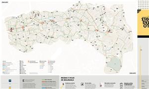 Mapa de ciclorrotas de São Paulo