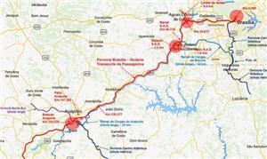 Mapa divulgado pela Agência Nacional de Transporte