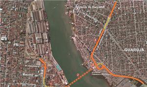 Mapa do Guarujá