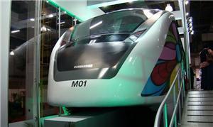 Maquete de monotrilho apresentado pela Bombardier