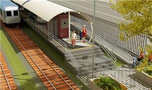 Maquete de nova estação do metrô de Teresina