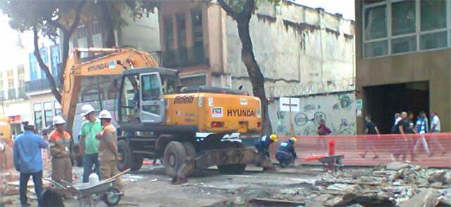 Máquinas voltaram a trabalhar nas obras da linha 3
