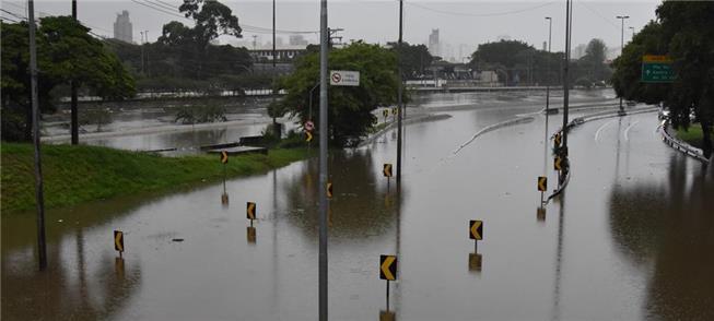 Marginal do Tietê, em São Paulo, na segunda-feira