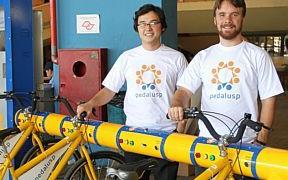 Matsumoto (à esq.) e Villar idealizaram o projeto