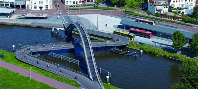 Melkwegbridge, na Holanda: um dos projetos em exib