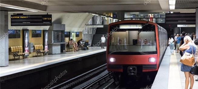 Metrô de Lisboa, um dos sistemas da rede pública a