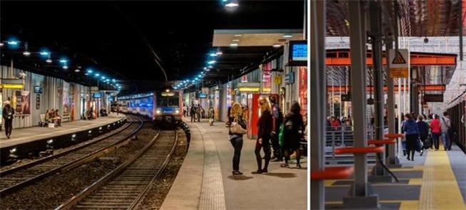 Metrô de Paris (esq.); Anel Central de Moscou (dir