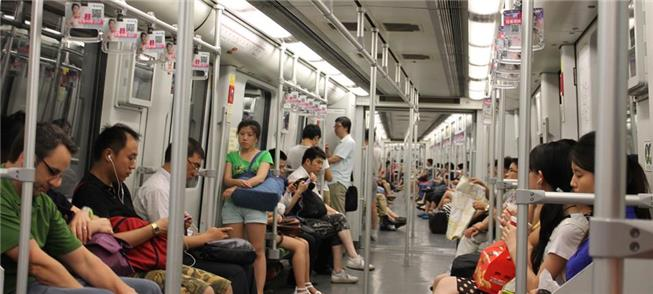 Metrô de Shangai, na China: 588 km