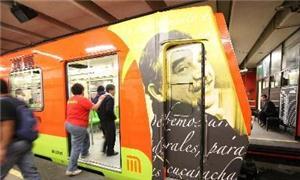 Metrô mexicano homenageia escritor