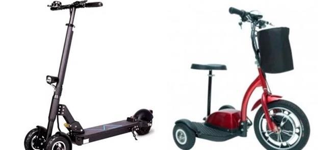 Modelo com rodas na dianteira, ou com rodas na tra