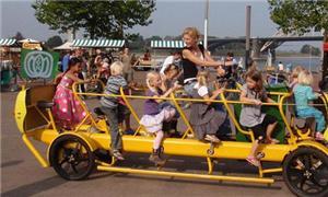 Modelo da bicicleta ainda tem espaço para adulto