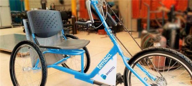 Modelo de bike para pessoas com mobilidade reduzid