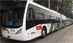 Modelo de ônibus elétrico da EMTU