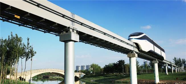 Monotrilho SkyRail em operação na cidade de Shenzh