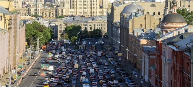 Moscou, novamente na lista com o pior trânsito do