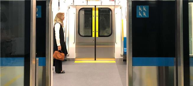 MRT Jakarta train at Bundaran HI Station. Photo: N