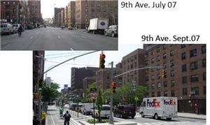 Mudanças na 9th Avenue em Nova York