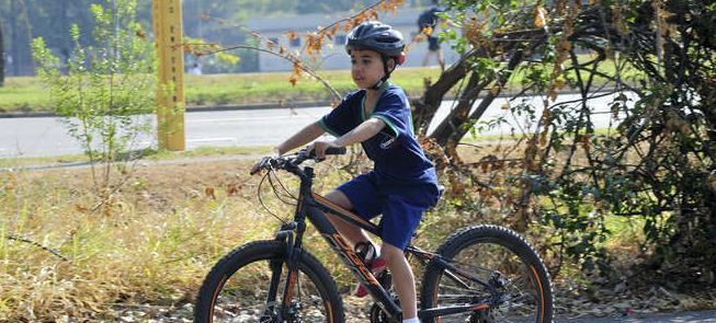 Murilo, que já chegou a pedalar quase 40 km!