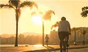 Na Ilha, ciclistas e pedestres mostram vocação ao