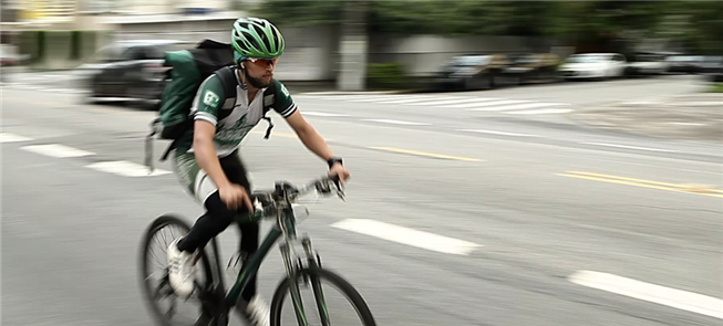 Negócio social realiza delivery com bikes em São P