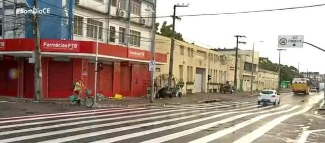 No Centro de Fortaleza, a maior faixa e pedestre d