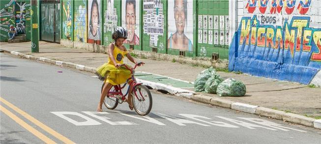 No Festival, crianças aprendem a andar de bike sem