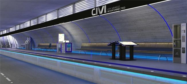 No projeto CIVI para Curitiba, estações a 6m de pr