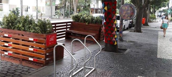 No Rio há parklets desde 2015, como este no Leblon