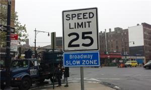 Nova York, 40 km/hora em toda a cidade!