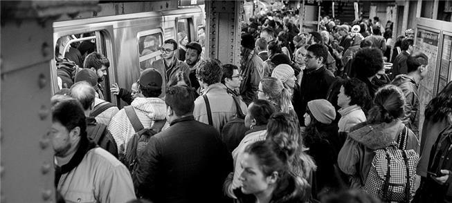 Nova York: estação lotada em horário de pico