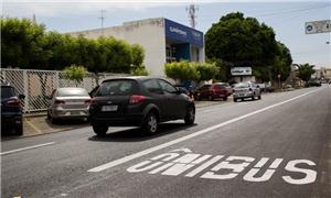 Novas faixas exclusivas em avenidas de Teresina