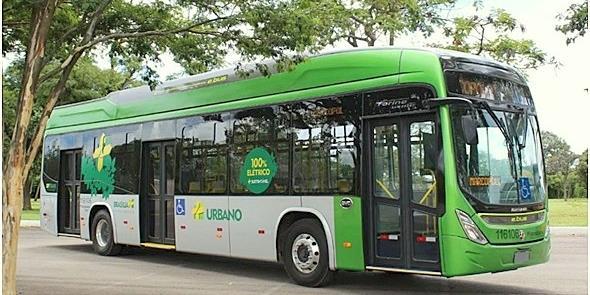 Novidade em Brasília: ônibus elétrico a bateria Ma