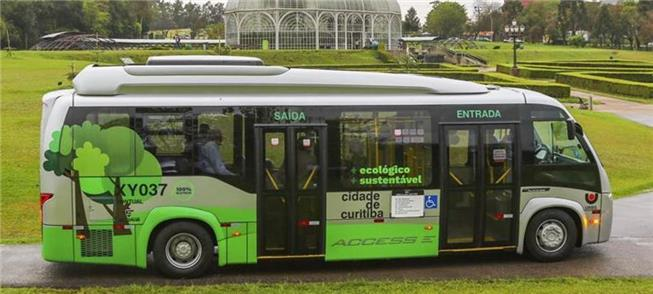 Novo ônibus a bateria já está circulando por Curit