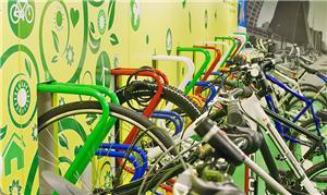 Novos bicicletários dos shoppings da capital