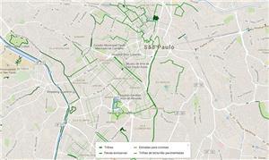 O mapa mostra desde trilhas até faixas exclusivas