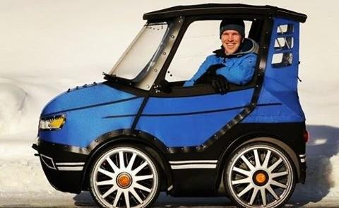 O PodRide é a combinação entre um carro pequeno e