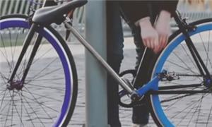 O único jeito de roubar a bike é quebrando-a