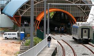 Obra do metrô de Salvador