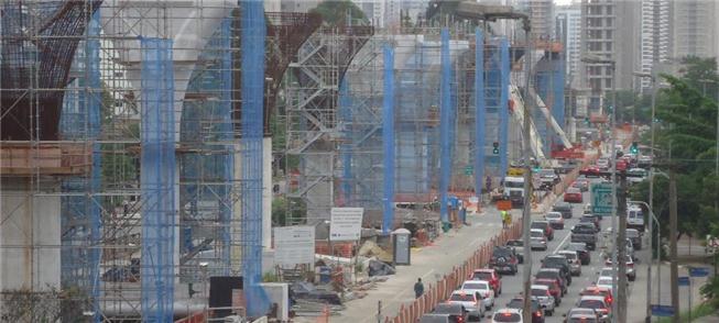 Obras de construção do primeiro trecho da Linha 17