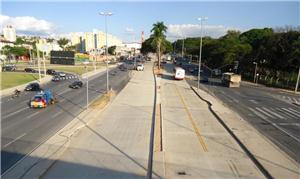 Obras do BRT da Antônio Carlos (foto) vão bem
