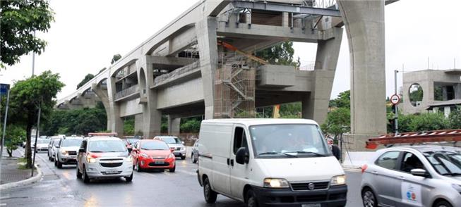 Obras do monotrilho da zona sul são suspensas pela