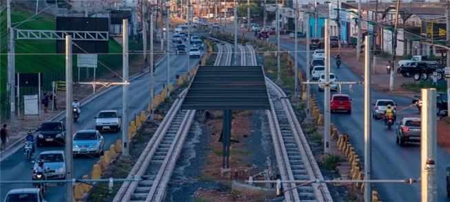 Obras do VLT em Cuiabá permanecem paradas