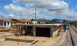 Obras no metrô de Fortaleza