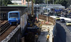 Obras no metrô do Rio