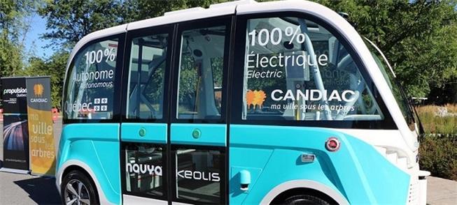 Ônibus 100% elétrico e autônomo, em teste no Canad