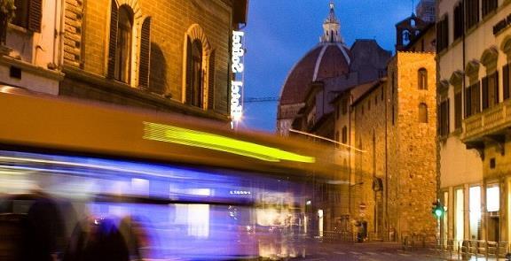 Ônibus: a única possibilidade em Florença, que não